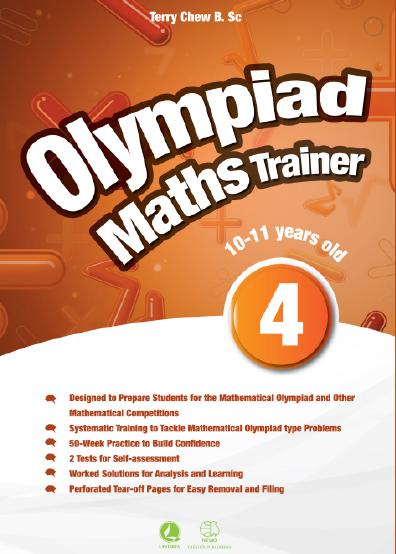 Sách] Olympiad Maths Trainer 4 (10-11 Years old) & answer key - Sách gáy  xoắn - SÁCH TIẾNG ANH HÀ NỘI