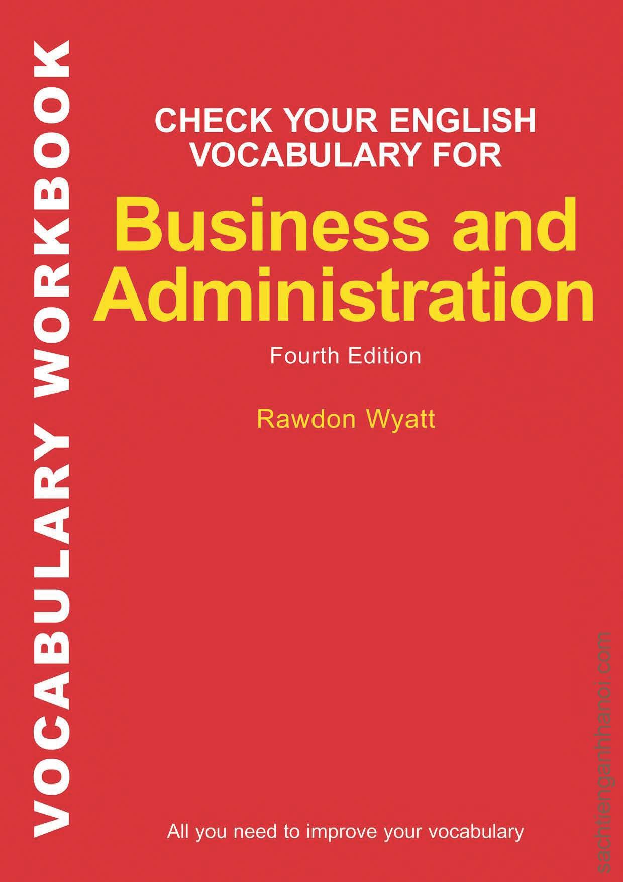 Sách] Check Your English Vocabulary for Business and Administration (4th Edition) – Sách gáy xoắn - SÁCH TIẾNG ANH HÀ NỘI