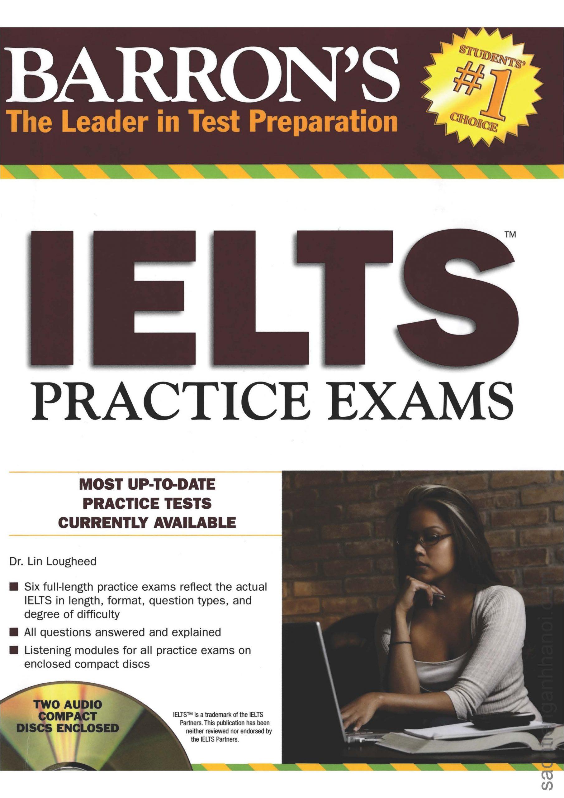 Audio] Barron's IELTS Practice Exams – SÁCH TIẾNG ANH HÀ NỘI